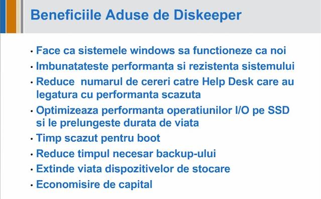 beneficii aduse de Diskeeper